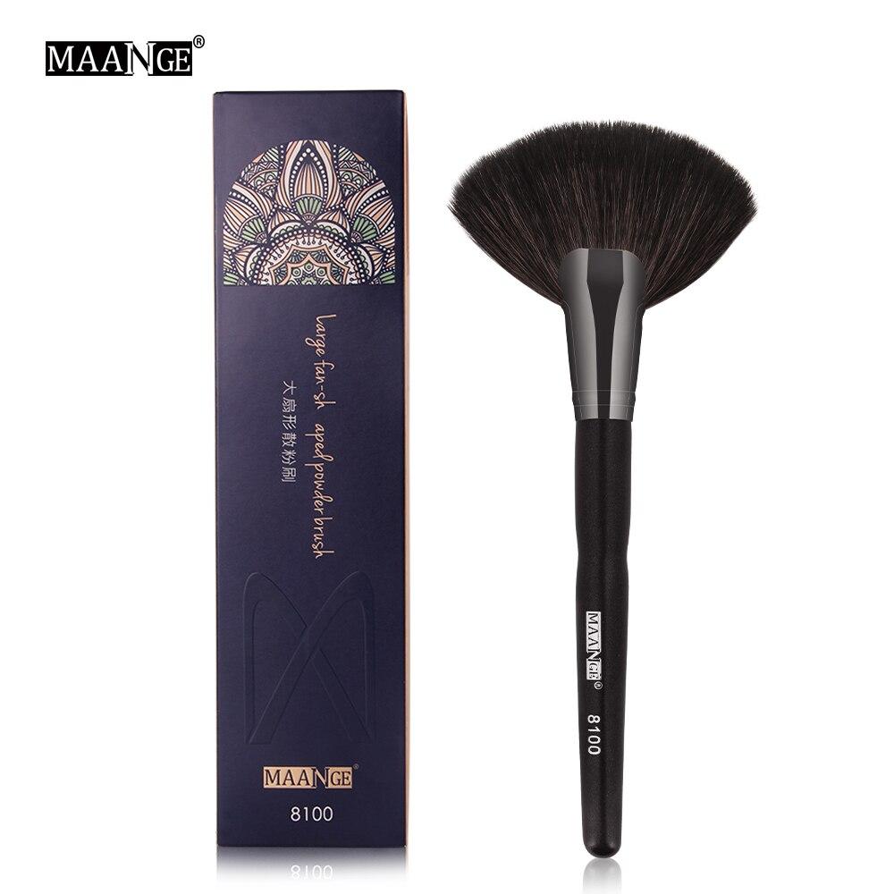 MAANGE New 1Pcs Professional Powder Makeup Brush Set Cosmetics Large Fan Brush Contour Blush Sculpting Make Up Brushes Beauty