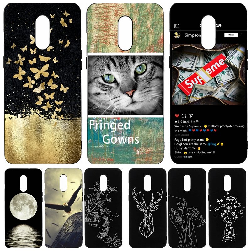Fashion Pattern Painted Phone Case for One Plus font b 7 b font case coque Soft
