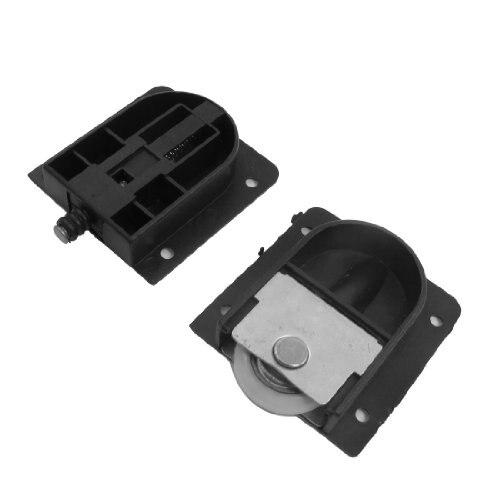 New 3.5mm/ 0.14 Wardrobe Black Plastic Plate 25mm Dia Wheel Sliding Door RollerNew 3.5mm/ 0.14 Wardrobe Black Plastic Plate 25mm Dia Wheel Sliding Door Roller