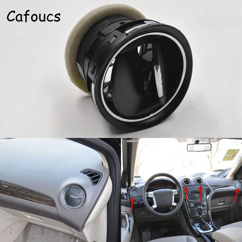 Cafoucs Air Vent For Ford Mondeo Galaxy Fiesta S-MAX Car Air-Conditioning Outlet 6M21U018B09-ADW car swivel air outlet mount holder for htc one s black
