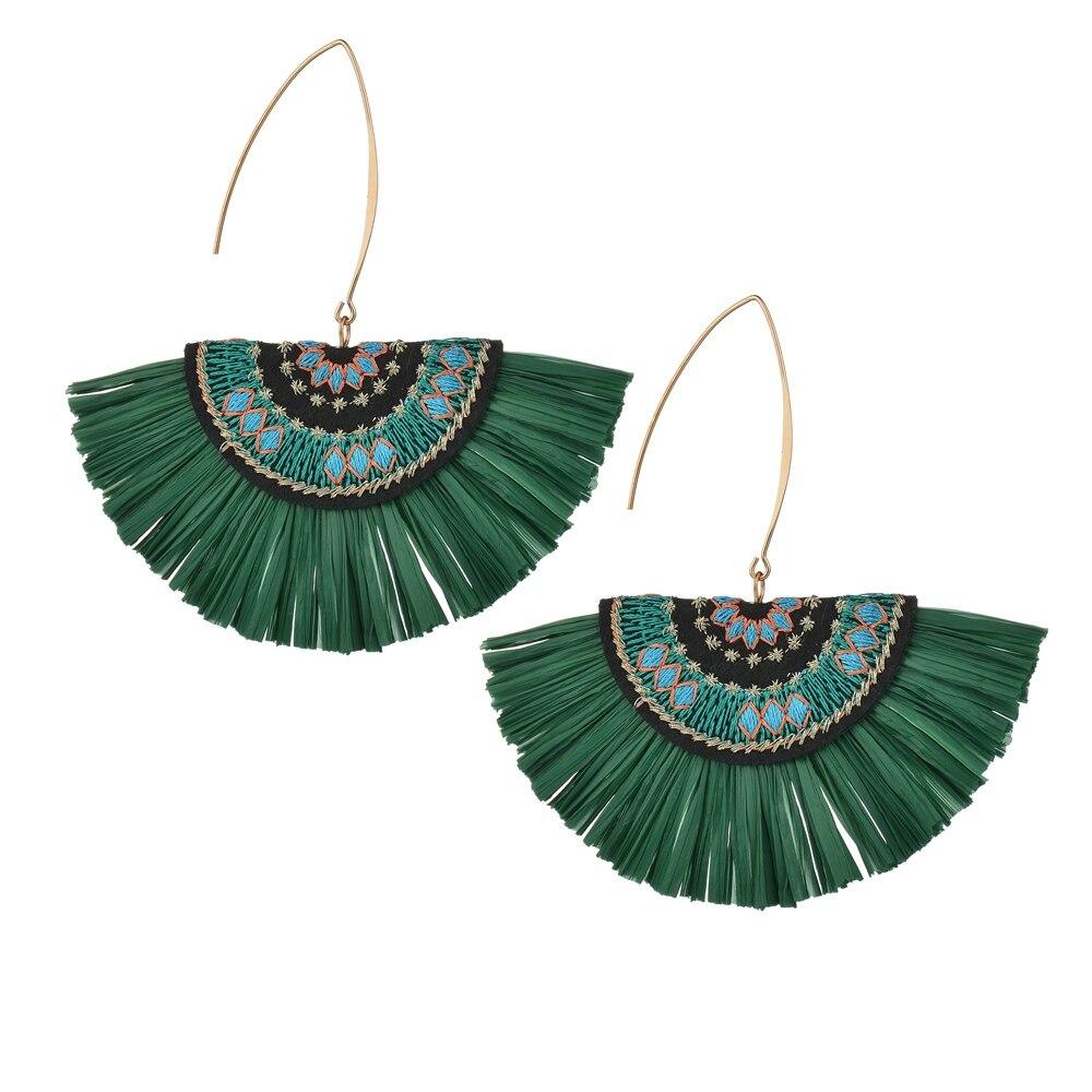 Stud Earrings Alert Bohemian Green Stone Stud Earring Sets Retro Alloy Wings Lotus Shell Earrings Brincos Jewelry For Ladys Woman Earrings