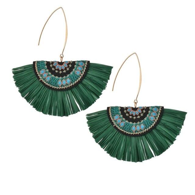 MissCyCy Bohemian Handmade Embroidery Drop Earrings for Women 2018 New Tassel Earrings For Women Party Jewelry Gift