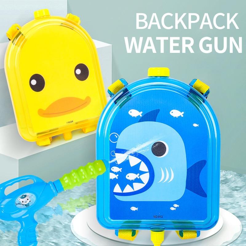 New Summer Toys Water Guns Cute Anime Backpack Water Gun Toys For Children