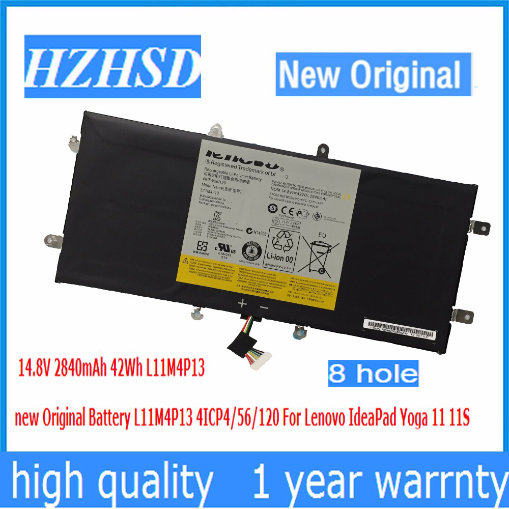14.8V 2840mAh 42Wh L11M4P13 New Original Battery L11M4P13 4ICP4/56/120 For Lenovo IdeaPad Yoga 11 11S
