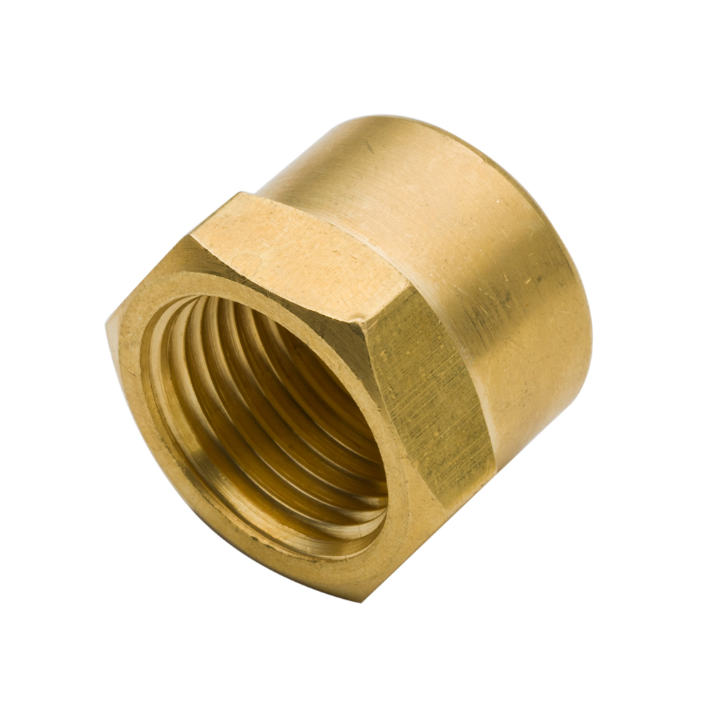 3129 2pcs 1/8 1/4 3/8 1/2 3/4 Plumb Water Gas Tube Hose Brass Pipe Fitting Hex Head End Cap NPT Female Thread