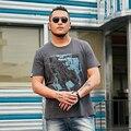 Мужская футболка с круглым вырезом  Повседневная Свободная хлопковая футболка с короткими рукавами и принтом Hello Watch в стиле ретро  1-6XL  лето ...