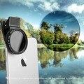 Zomei 37mm lente de cámara del teléfono celular profesional nd circular polarizador filtro nd2-nd400 para iphone/6/6 s plus samsung