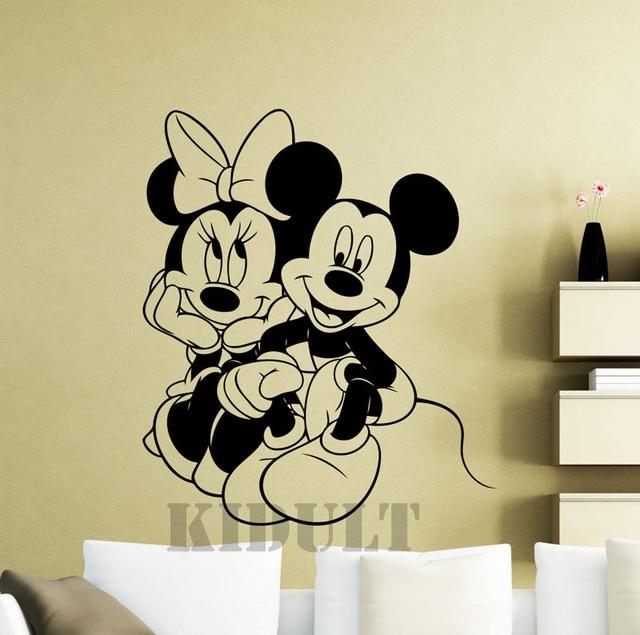 Mimi Mickey Maus Cartoon Wandaufkleber Vinyl Home Flugzeug Wand ...