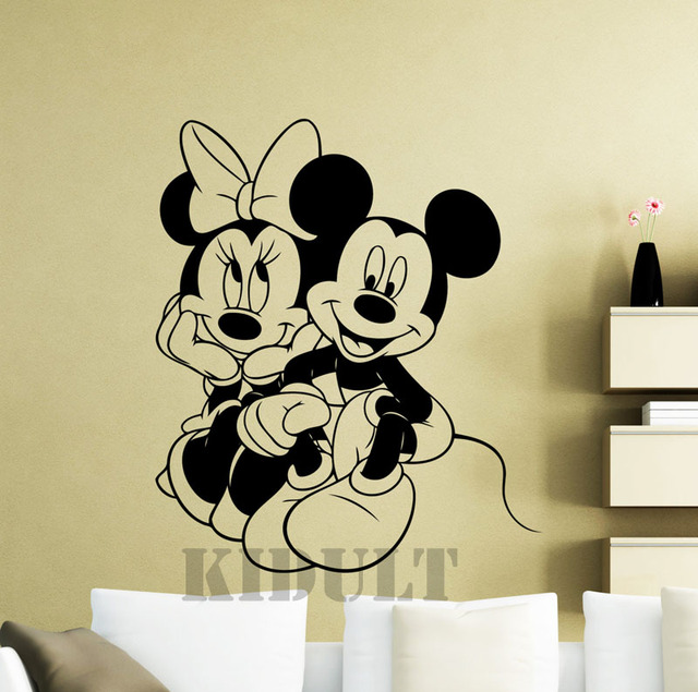 Mimi Mickey Mouse Cartoon Wall Sticker Vinyl Home Plane Wall ...