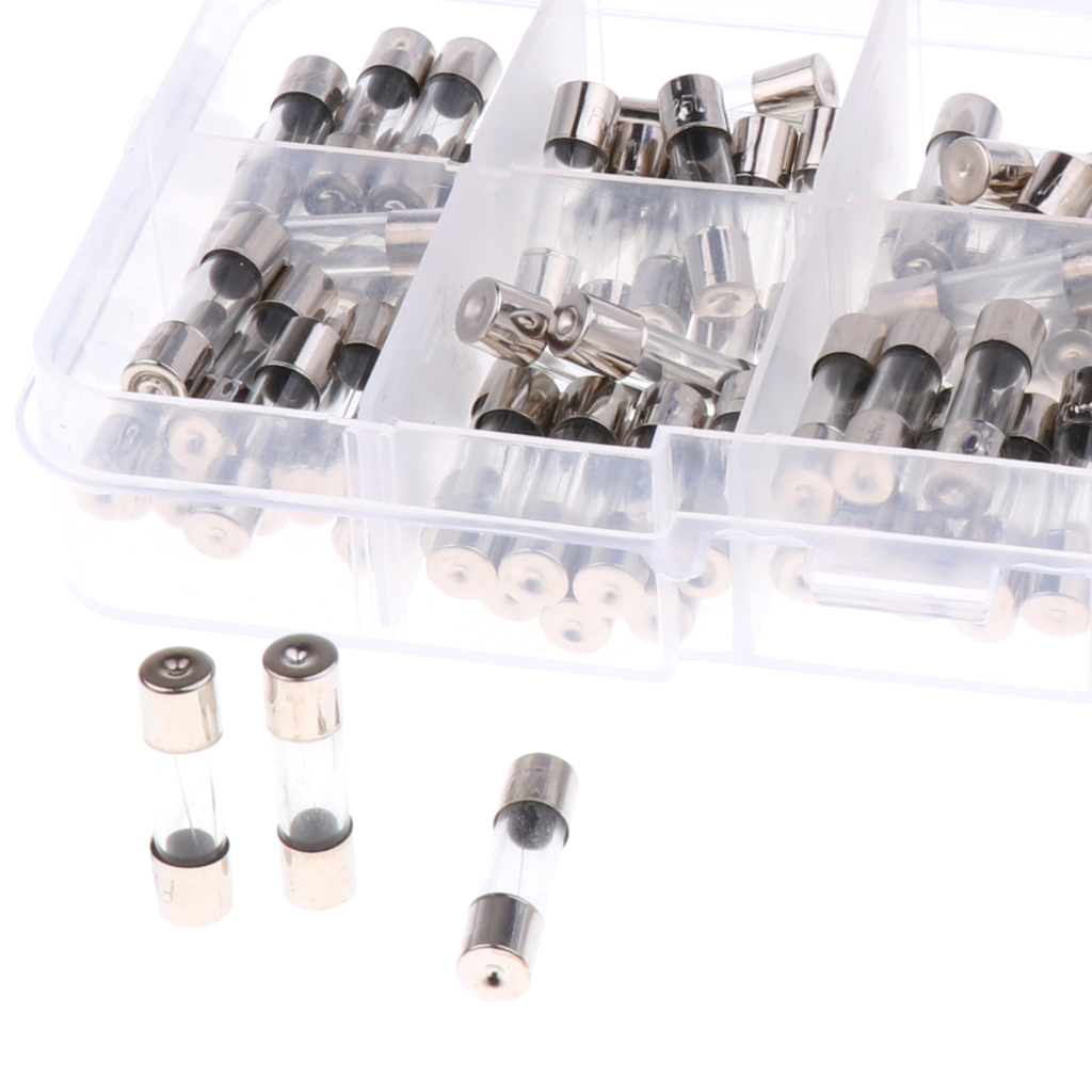 100 Pieces Car Audio Power Amplifier Glass AGU Nickel Plated Fuse 0.2A-15A