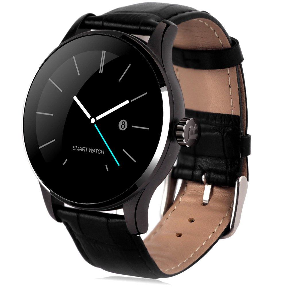 Prix pour Ronde K88H Bluetooth Smart Montres Horloge Classique Metal Energie Smartwatch avec Moniteur de Fréquence Cardiaque pour Android ISO iPhone Téléphone