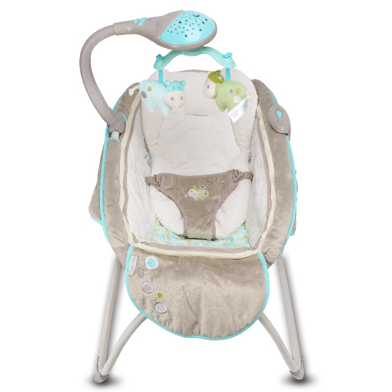 Moonlight rocking sleeper deluxe baby cradle electric rocking chair music stars baby crib folding bed the baby rocking chair electric cradle chair deck chair