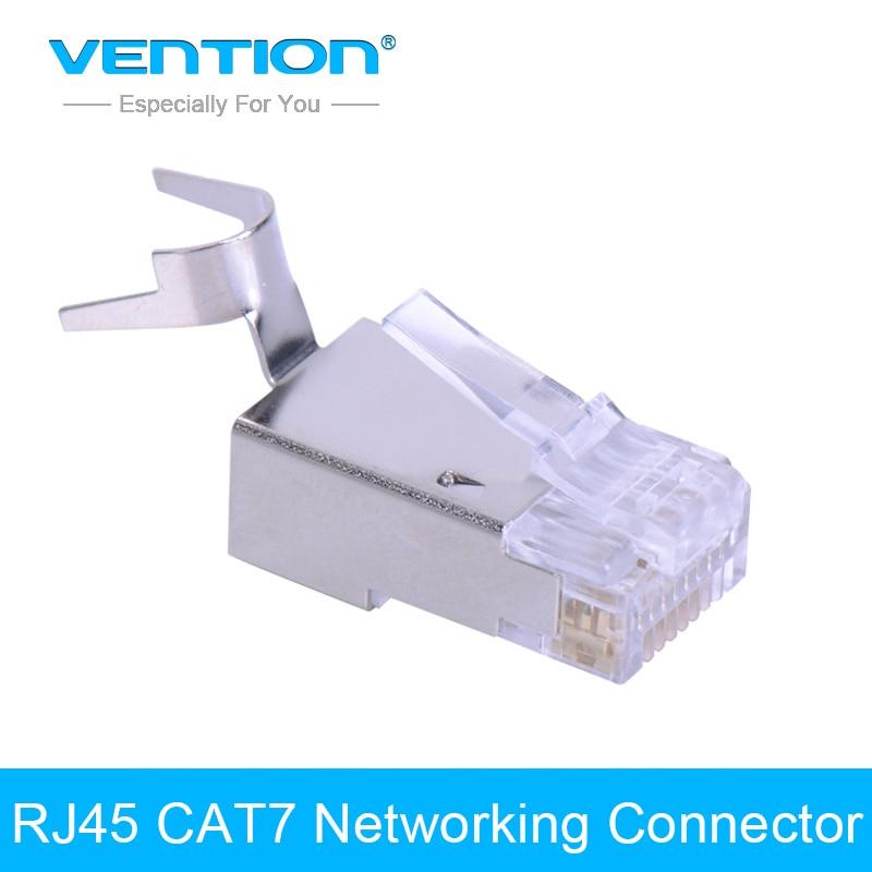 Vention 8P8C Rj45 CAT7 Modular Plug Network Connector Networking Adapter 10Pcs/lot