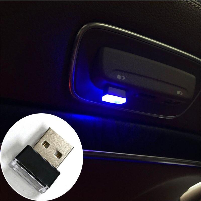 10x Mini USB LED Light Colorful Light Lamp For Laptop Car Atmosphere Lamp US
