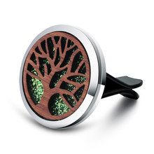 Vintage Wood Tree Of Life Aroma Car Air Freshener น้ำหอมสแตน(China)