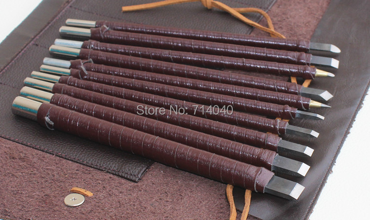 10Pcs Manganese Steel Chisel Set Stone Carving Artist Woodworkers New SH