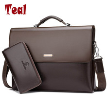 2017 New Arrival Famous Brand Business Men Briefcase Bag PU Leather Laptop Bag Briefcase Male PU Leather Shoulder bags