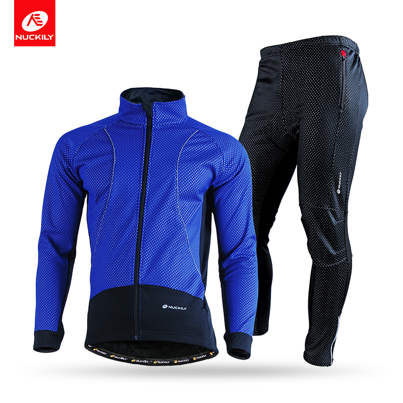 NUCKILY Men's Winter Windproof Outdoor Breathable Polyester Cycling Sports jersey Suit ноутбук dell vostro 5568 5568 9040 5568 9040