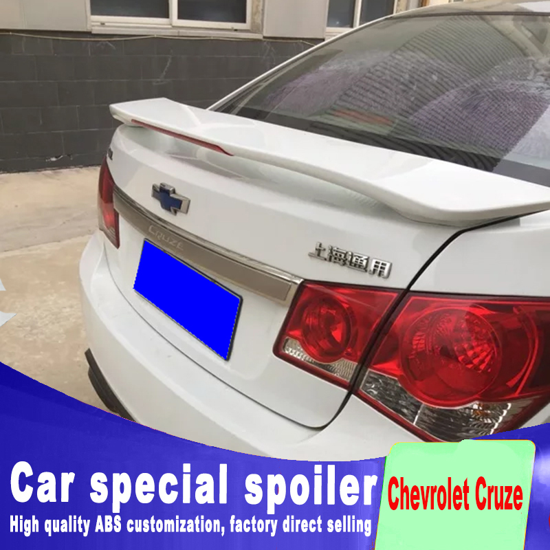 New design 2009 to 2018 for Chevrolet Cruze spoiler red brake light stable punching install ABS material by primer or any paintNew design 2009 to 2018 for Chevrolet Cruze spoiler red brake light stable punching install ABS material by primer or any paint