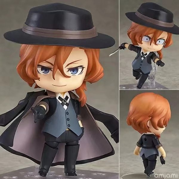 NEW hot 10cm Bungo Stray Dogs Nakahara Chuya collection action figure toys Christmas gift toy doll with box new hot 14cm pikachu gary oak okido green eevee action figure toys collection christmas gift doll with box