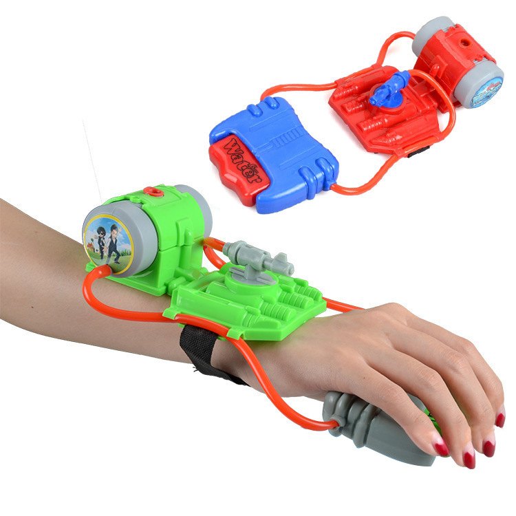 Summer Wrist Water Gun Mini Hand Children Outdoor Swimming Water Toys Blister Card Installed