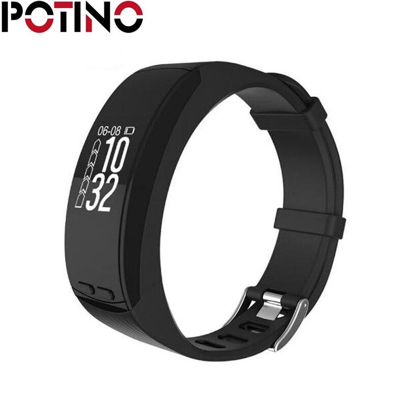 POTINO P5 0 96 inch OLED GPS Heart Rate Monitor Smart Bracelet Pedometer Thermometer Barometer smart