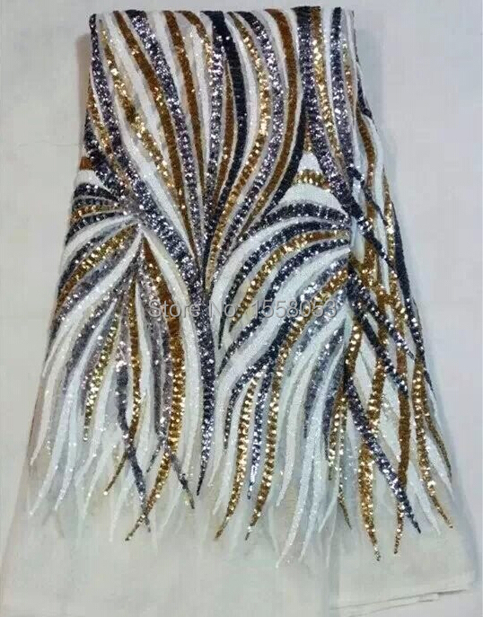 แอฟริกันguipureลูกไม้เลื่อมตาข่ายลูกไม้ผ้าแอฟริกันตาข่ายปักผ้าผ้าชุดแต่งงาน-ใน ผ้า จาก บ้านและสวน บน   1
