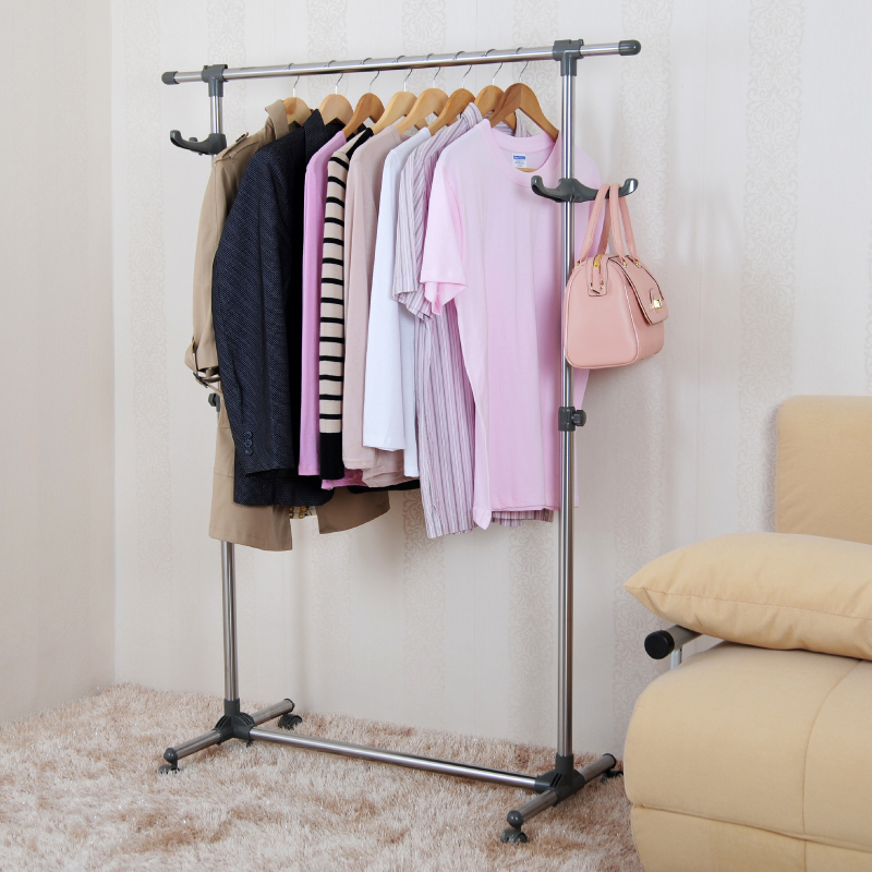 JYXF flexible metal single pole clothes hanging rack with wheels JYS  811C-in Storage Holders & Racks from Home & Garden on Aliexpress.com |  Alibaba Group