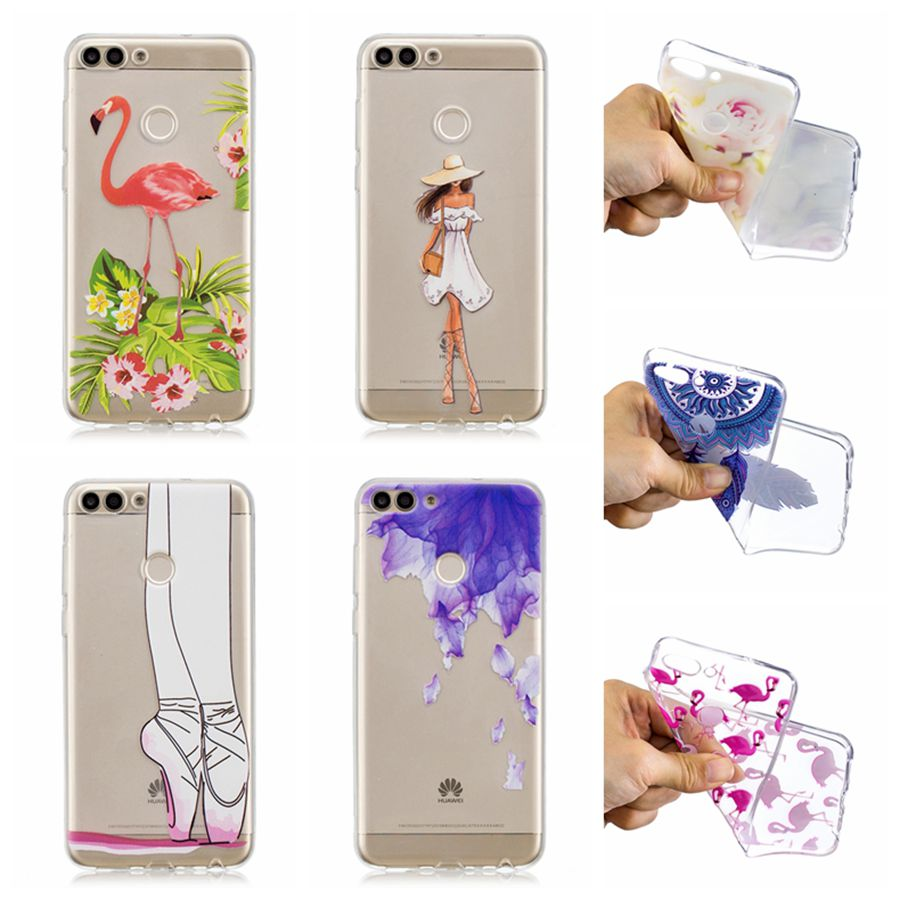 For Huawei Enjoy 7s Print Painted Back Shells For Huawei P smart Bags TPU Case For Huawei P smart Enjoy 7S Silicone Phone Cover