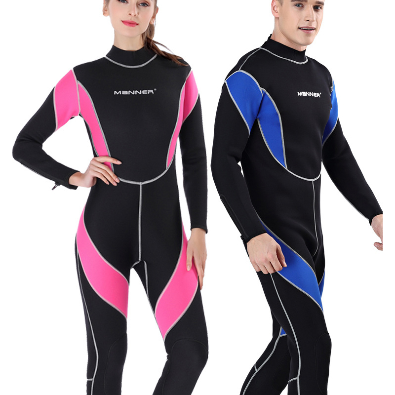 MANNER MEN Women 3mm neoprene Swimming Diving Wetsuit Suit Snorkeling Equipment Surf Clothing Water Sports Jumpsuit Suits