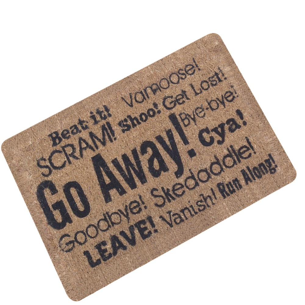 Go away Mat Rubber Door Mat Bedroom Floor Mat Indoor Anti ...