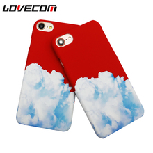 LOVECOM Fashion China Red Sky Blue Phone Case For iPhone 6 6S 7 Plus Colorful Matte Hard PC Back Cover Coque