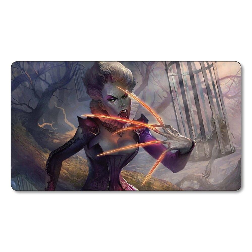 (Talons of Falkenrath) Many Choice Magic Game Custom Playmat,Board Games MGT Play Mat,Custom Gather Big Mousepad with Free Bag