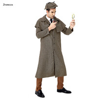 Zhomecos Movie Sherlock Holmes Cosplay Costume Great Detective Costume Cosplay Halloween Masquerade Party Full Set