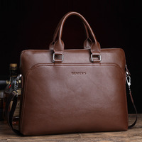 Free Shipping New 2015 Famous Men PU Leather Bag Briefcase Casual 14 Inch Laptop Bags Fashion