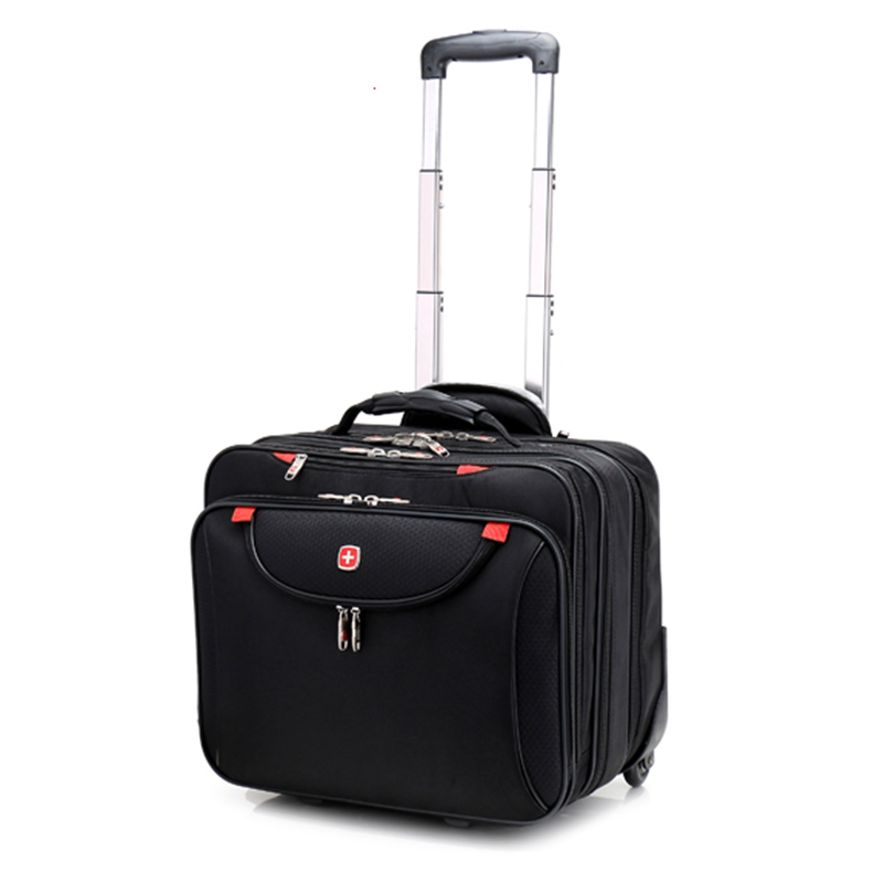 New Fashion Multifunction Men Business Rolling Luggage 18 Inch Boarding Box Computer Trolley Travel Bag Women