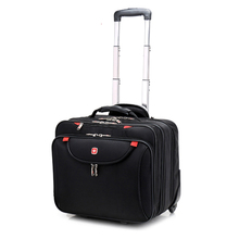 New Fashion Multifunction Men Business Rolling Luggage 18 Inch Boarding Box Computer Trolley Travel Bag Women Suitcase Trunk