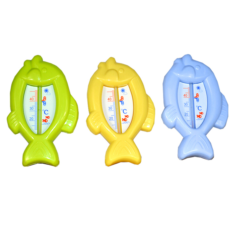 Baby Bath Thermometers Fish Shaped Safe Plastic Tub Watering Sensor Thermometer