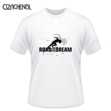 Road to the dream tshirt men Fashion 7XL Short sleeves oversized customize tee large size modal top O-neck couple