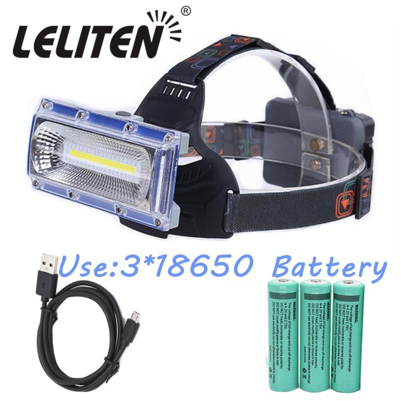 20000lm Cob Led-scheinwerfer Jagd Licht Angeln Scheinwerfer Led Taschenlampe Camping Laterne + 3x18650 Batterie + Usb Kabel
