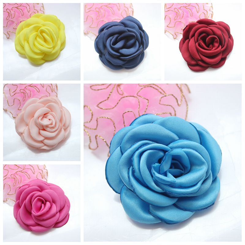 Handmade Pink And Purple Silk Kanzashi Flowers