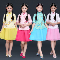 New Design Multicolor Girls Ancient Chinese Hanfu Dress Tang Dynasty Costume Kids Hanfu Traditional Costume Top