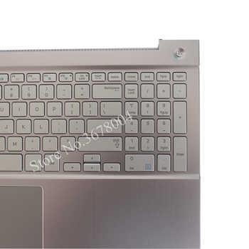 新 us キーボード samsung NP770Z5E 780Z5E NP780Z5E NP880Z5E 米国のノートパソコンのキーボードシルバーパームレストカバー BA75-04690A