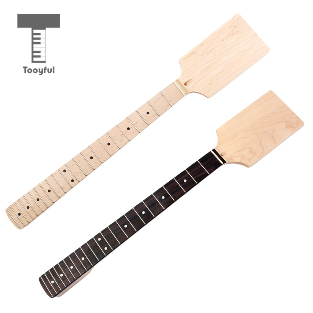 Tooyful 1Pc Unfinished DIY Electric Guitar Kit Body Maplewood Fingerboard Maple Neck yibuy maple diy electric guitar body neck fingerboard with tuning pegs and 2 single coil pickips suit accessories