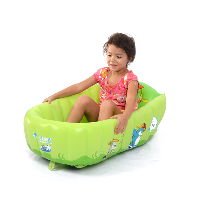 Home Use Babys PVC Inflatable Square Bathing Tubs Newborn Babys Lovely Tubs Anti-slip Baby Bathing Tubs Thicken And Safety