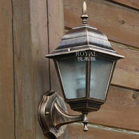 European outdoor / indoor waterproof wall lamps 220v E27 villa decorated wall lamp aluminum and glass up down outdoor lighting