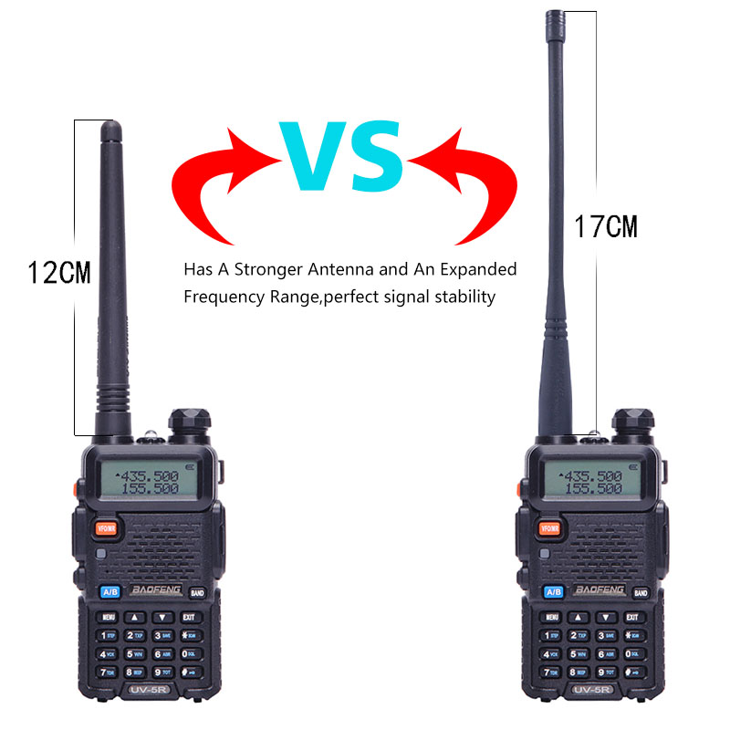 2 pcs BaoFeng UV-5R Talkie Walkie VHF/UHF Double Bande Deux voies CB radio Baofeng uv 5r Portable de poche uv5r + 17 cm antenne + casque
