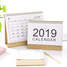 simple Printing Calendar Desktop Stationery Diy Plan Customized 2019 Calendar 2019 Desk Accessories Office Table Kalender 2019