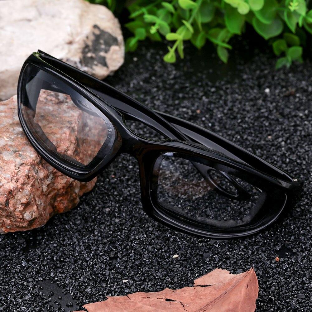 Ветрозащитные солнцезащитные очки Экстремальные виды спорта мотоциклетные защитные очки для верховой езды - Цвет: black frame flat len