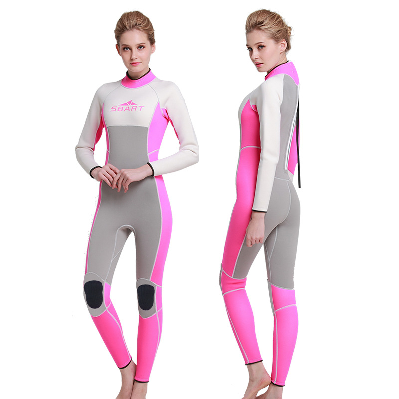 ФОТО Sbart  3MM Rubber Diving Suit Warmer Winter Swimming Long Sleeve One-piece Swimsuits Thicker jelly suits